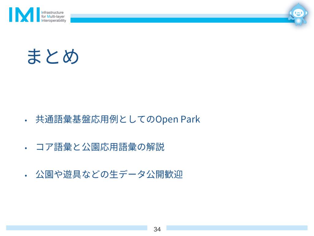 まとめ • 共通語彙基盤応⽤例としてのOpen Park • コア語彙と公園応⽤語彙の解説 •...
