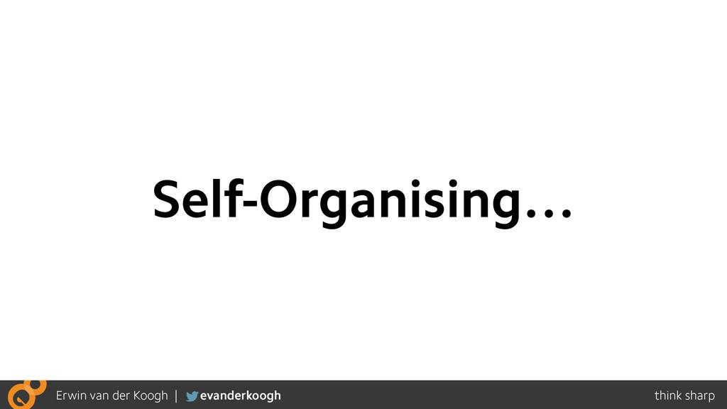 Self-Organising…