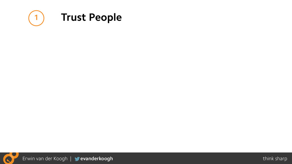 1 Trust People
