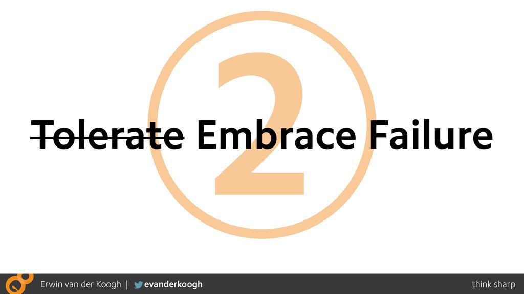 2 Tolerate Embrace Failure
