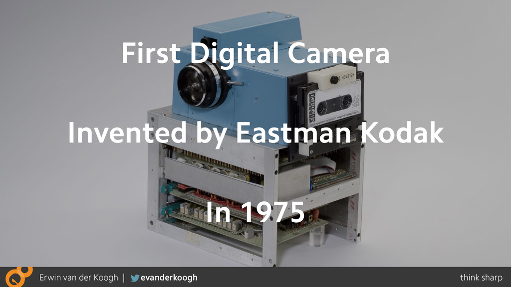 First Digital Camera Invented by Eastman Kodak ...
