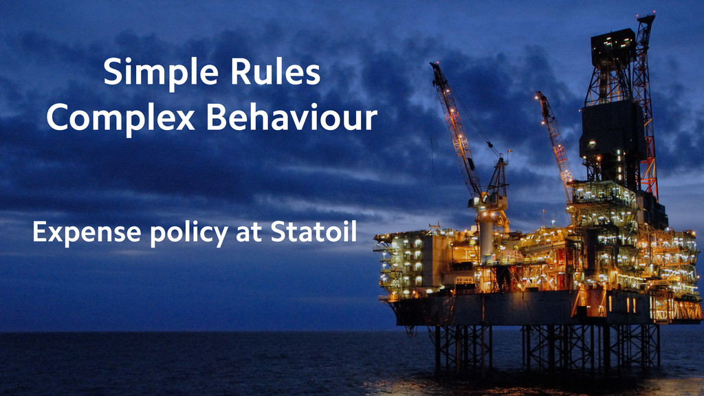 Simple Rules Complex Behaviour Expense policy a...