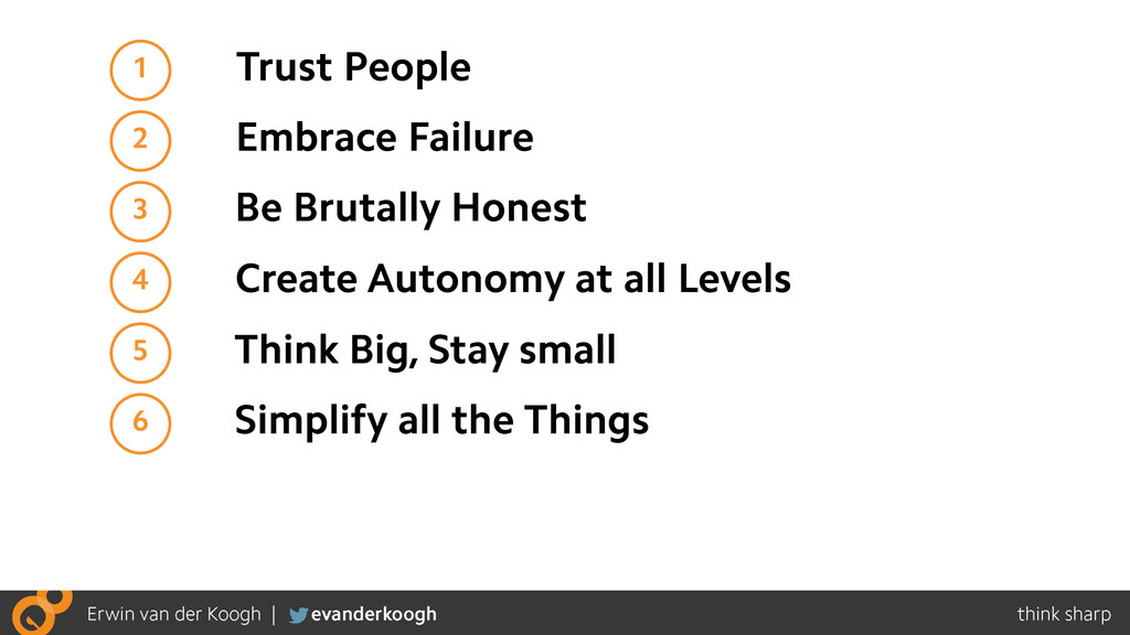 1 Trust People 2 Embrace Failure 3 Be Brutally ...
