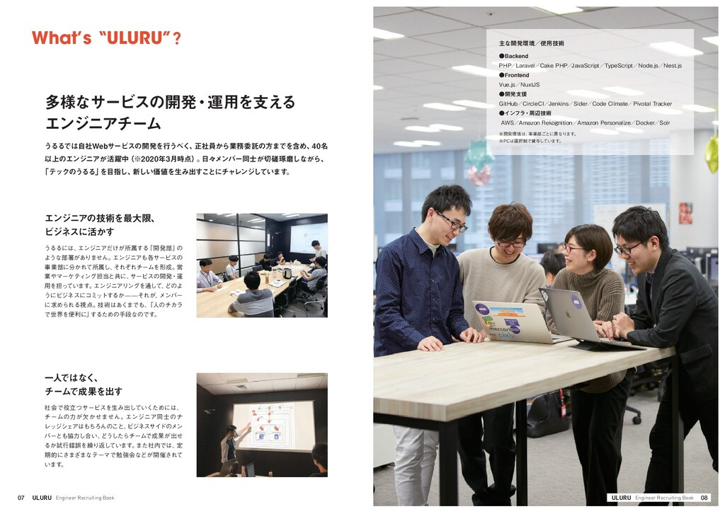 08 ULURU Engineer Recruiting Book ●Backend  PHP...
