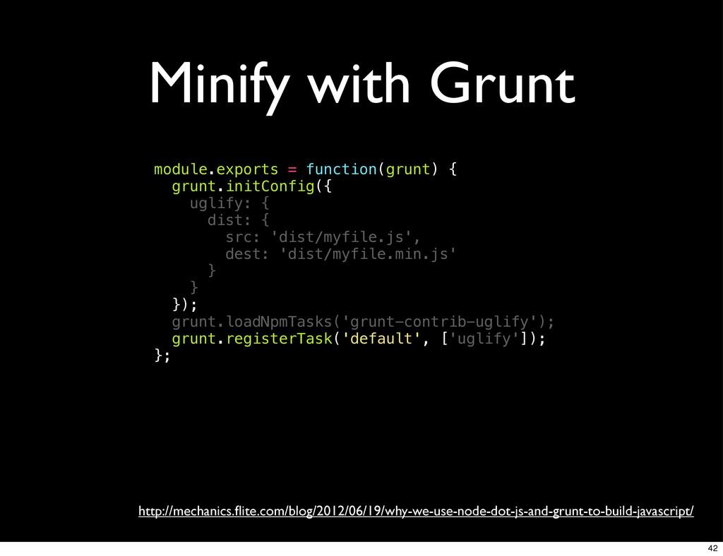Minify with Grunt http://mechanics.flite.com/blo...