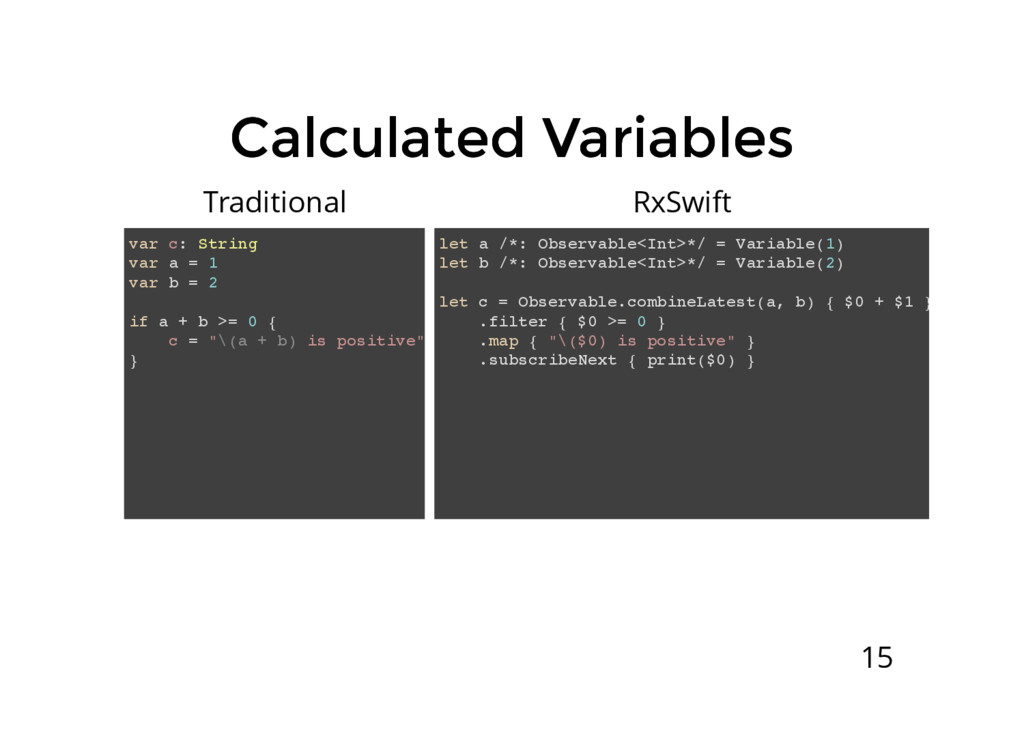 Calculated Variables Calculated Variables var c...