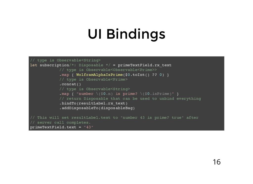 UI Bindings UI Bindings // type is Observable<S...