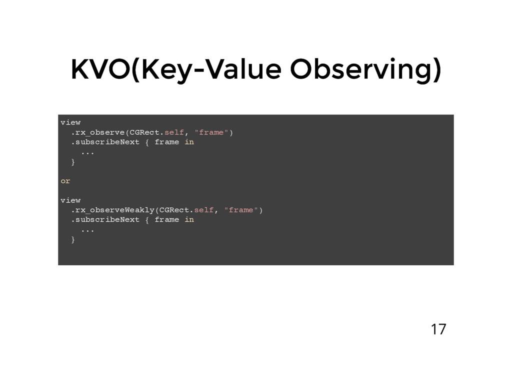 KVO(Key-Value Observing) KVO(Key-Value Observin...
