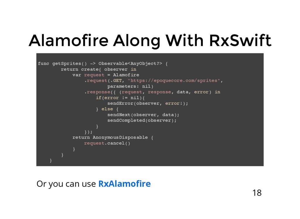 Alamofire Along With RxSwift Alamofire Along Wi...