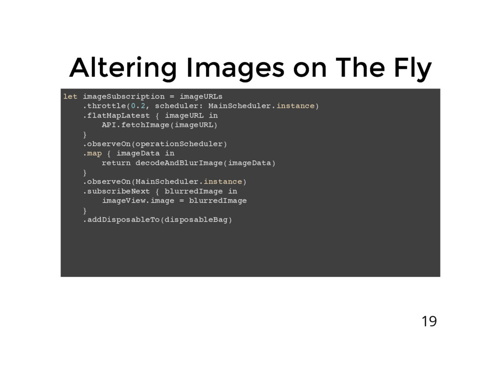 Altering Images on The Fly Altering Images on T...