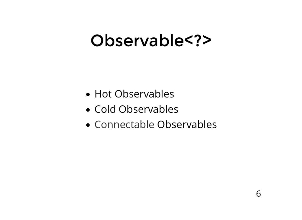 Observable<?> Observable<?> Hot Observables Col...