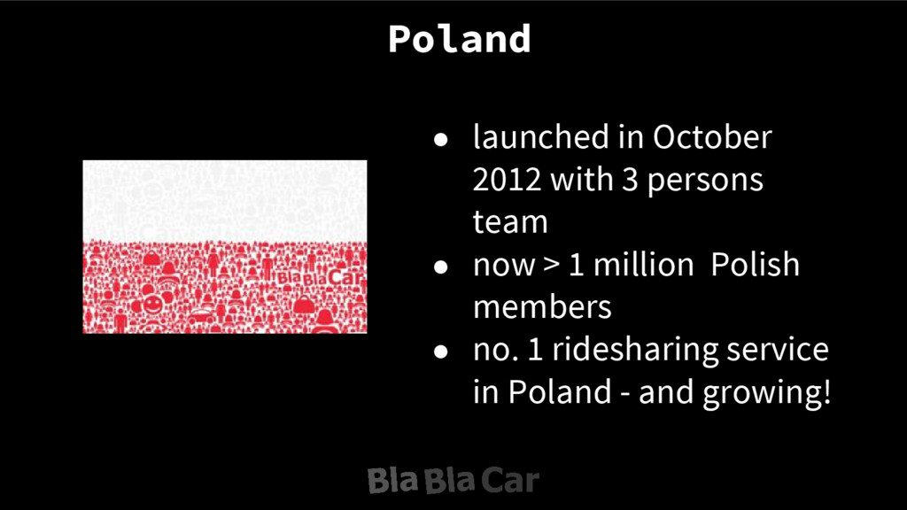 Poland ● launched in October 2012 with 3 person...