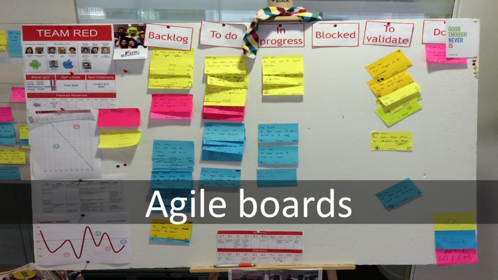Agile boards