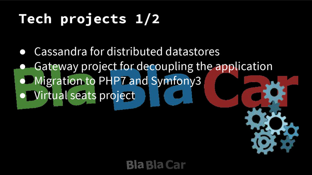 Tech projects 1/2 ● Cassandra for distributed d...