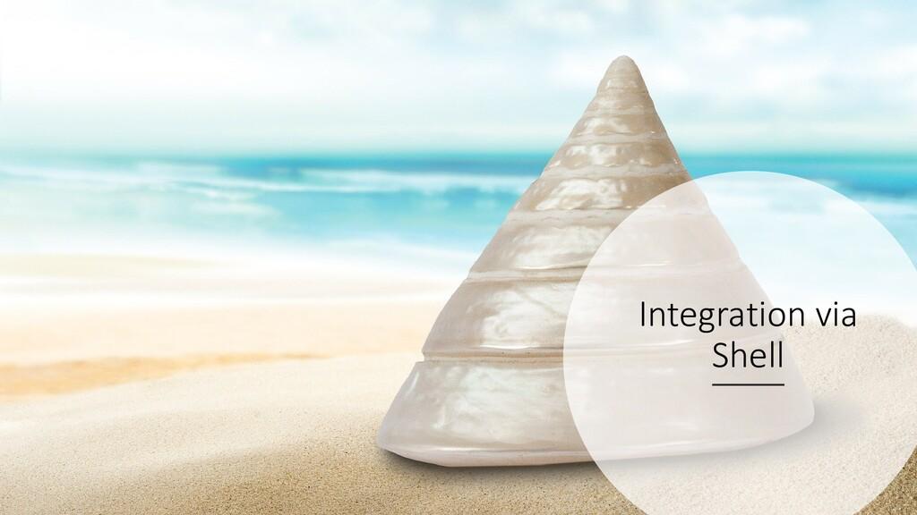 @ManfredSteyer Integration via Shell