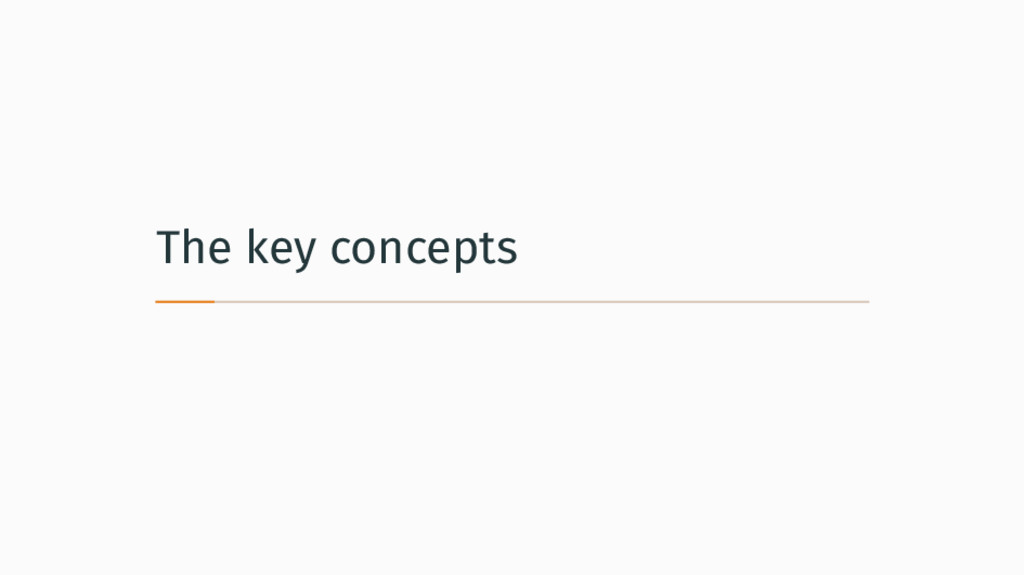 The key concepts
