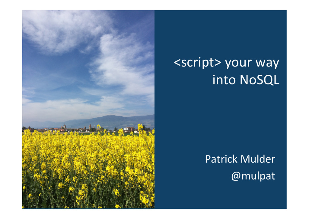 <script> your way  into NoSQL  P...