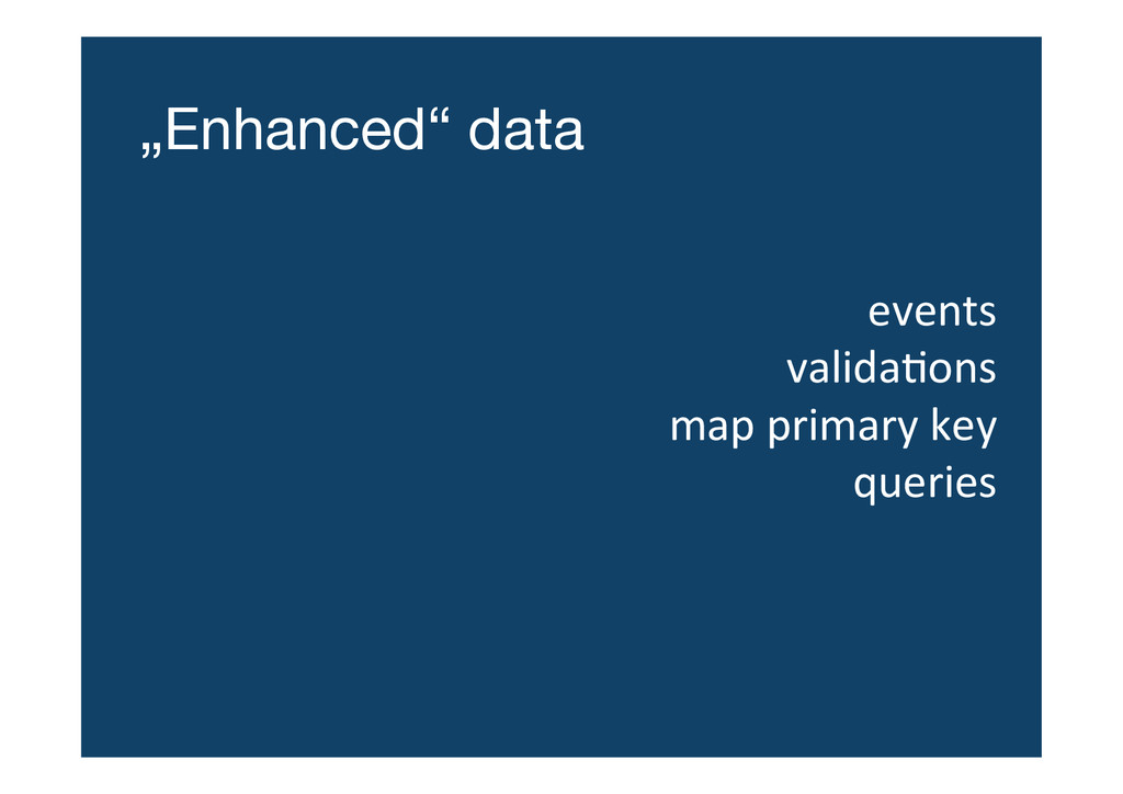"""""""Enhanced"""" data events  validaVons  map..."""