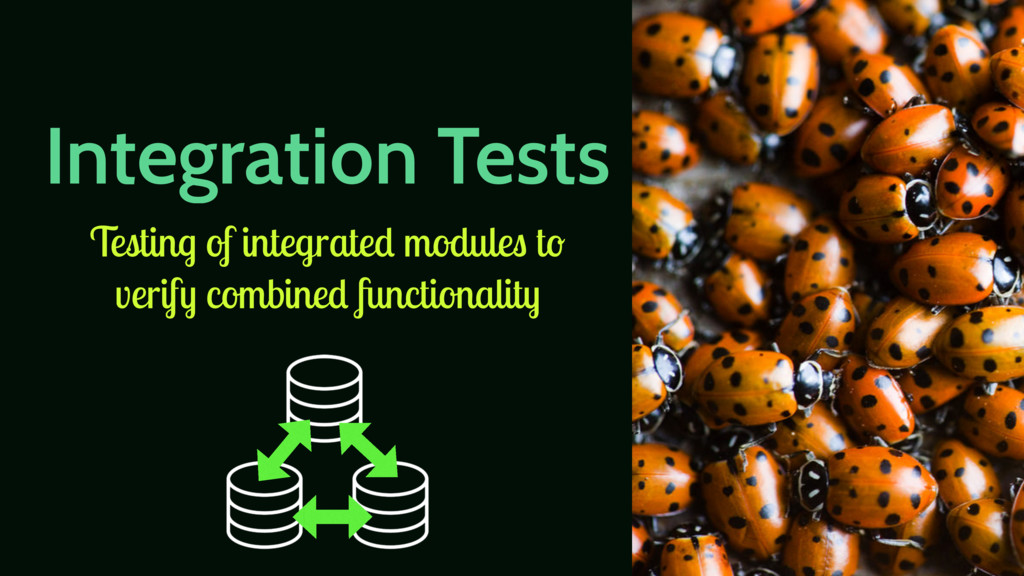 Integration Tests Testing of integrated modules...