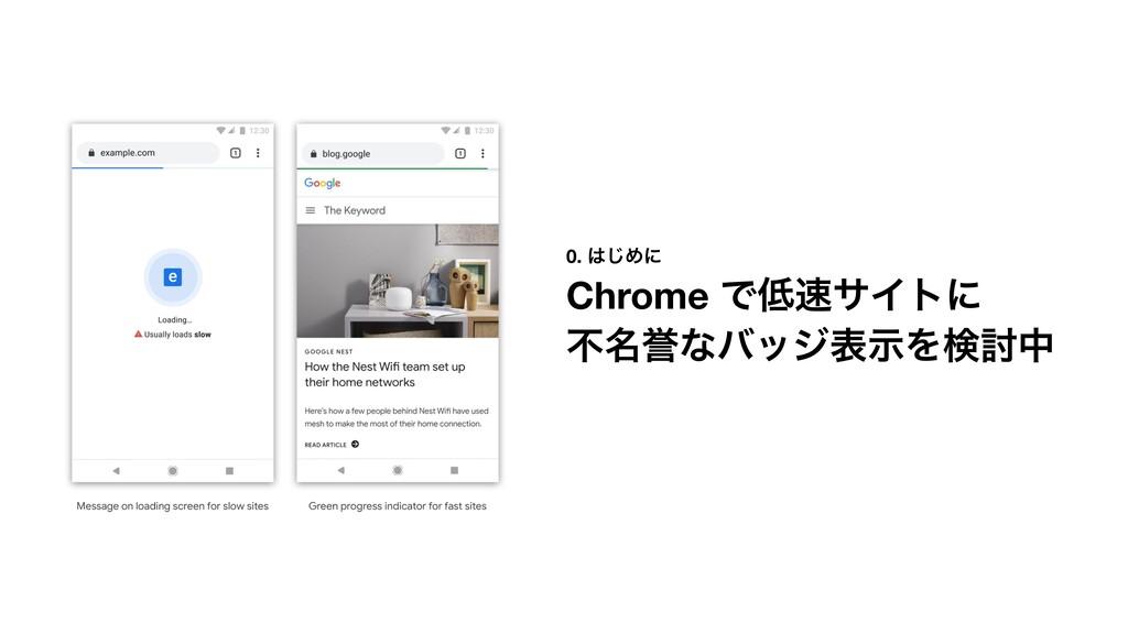 0. ͡Ίʹ Chrome ͰαΠτʹ ෆ໊༪ͳόοδදࣔΛݕ౼த