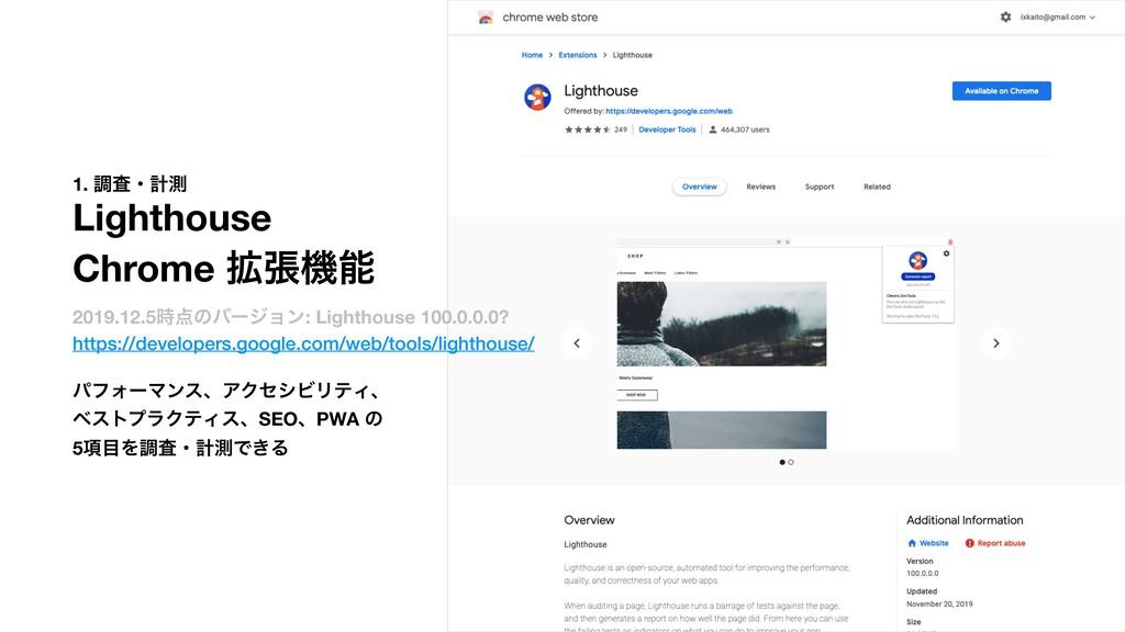 1. ௐࠪɾܭଌ Lighthouse Chrome ֦ுػ 2019.12.5ͷόʔδ...