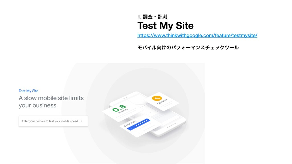 1. ௐࠪɾܭଌ Test My Site https://www.thinkwithgoog...