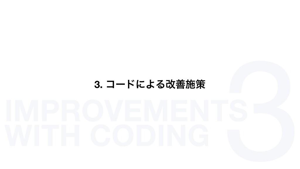 3 3. ίʔυʹΑΔվળࢪࡦ IMPROVEMENTS WITH CODING
