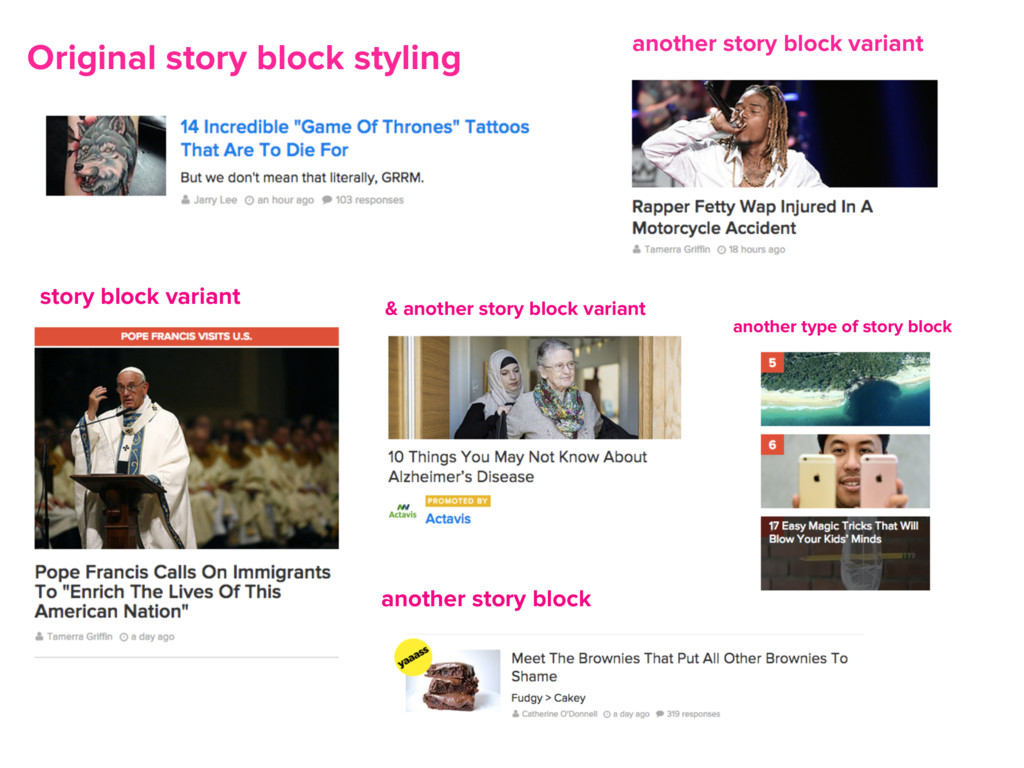 Original story block styling story block varian...