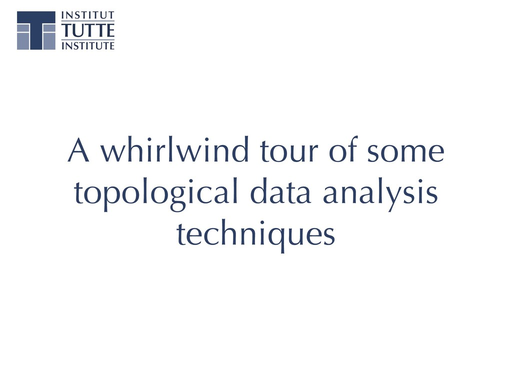 A whirlwind tour of some topological data analy...