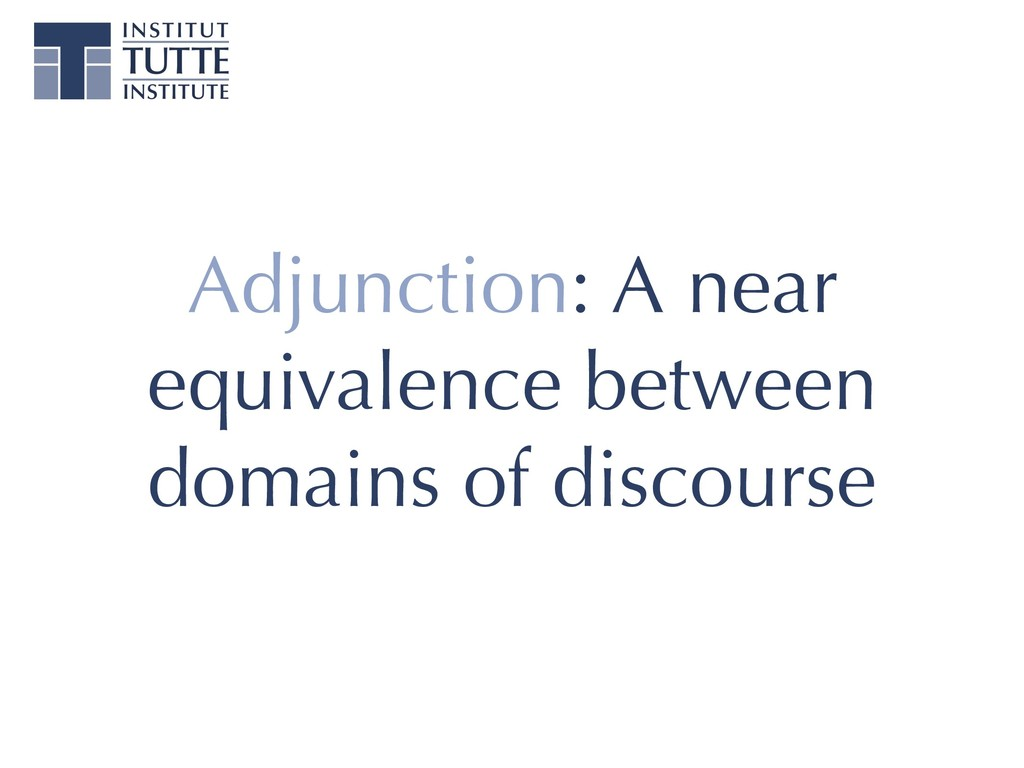 Adjunction: A near equivalence between domains ...
