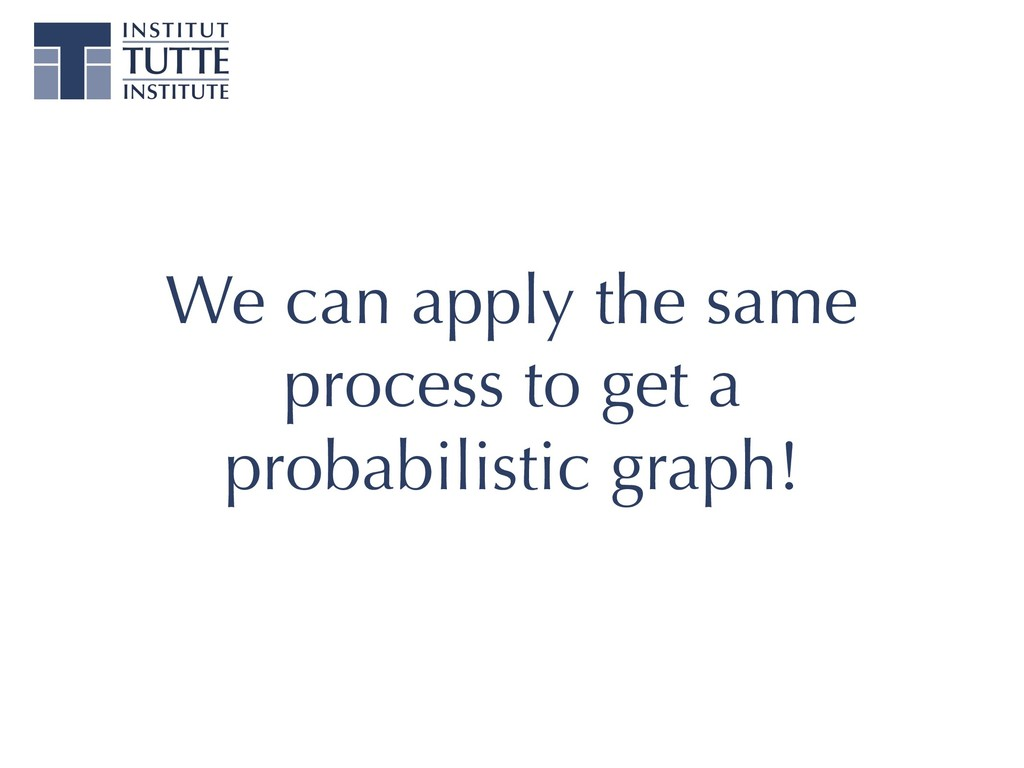We can apply the same process to get a probabil...