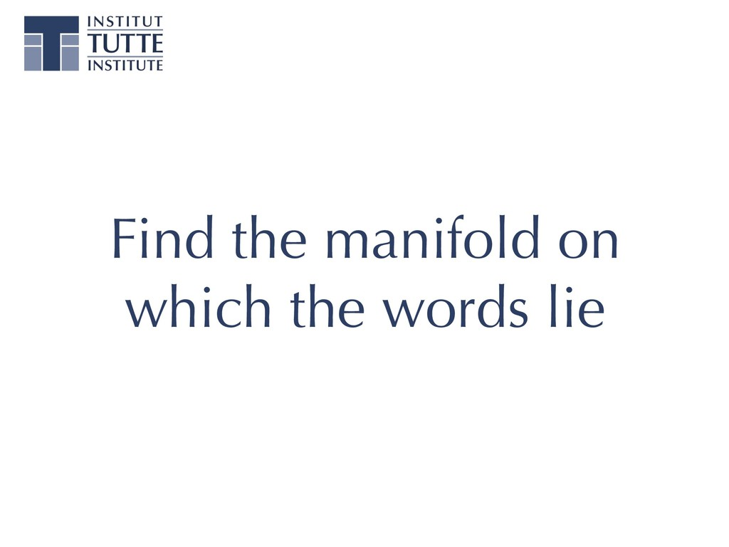 Find the manifold on which the words lie