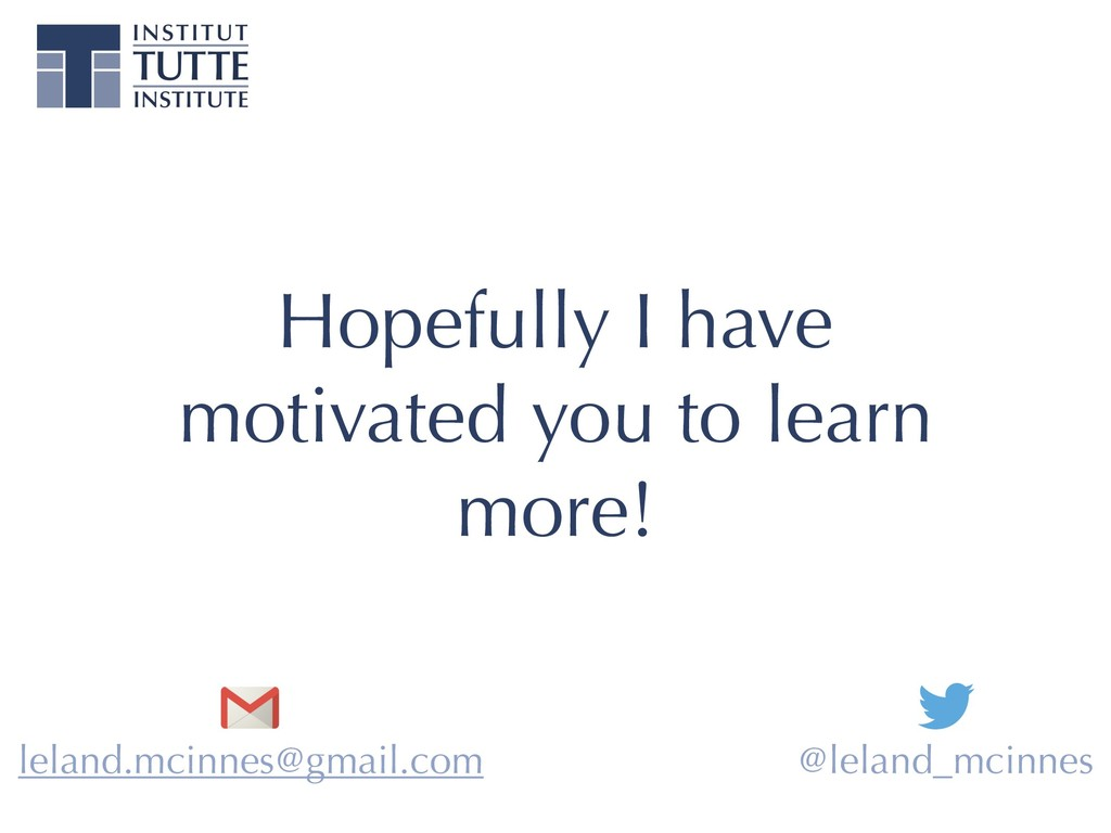 Hopefully I have motivated you to learn more! l...