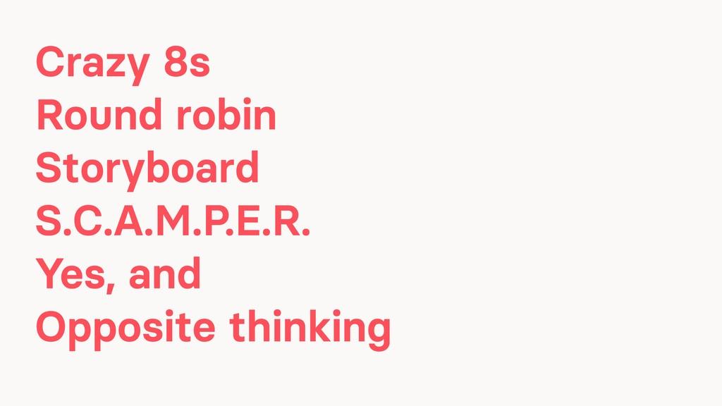 Crazy 8s Round robin Storyboard S.C.A.M.P.E.R. ...