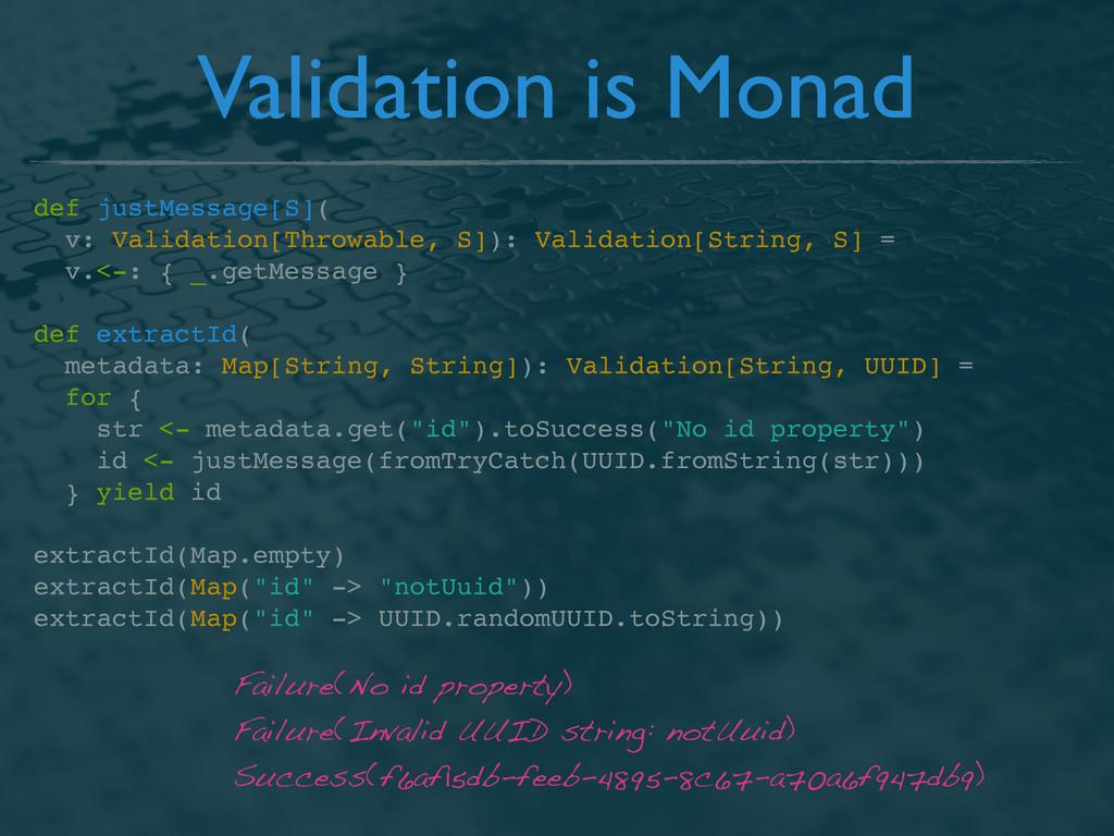 Validation is Monad def justMessage[S]( v: Vali...