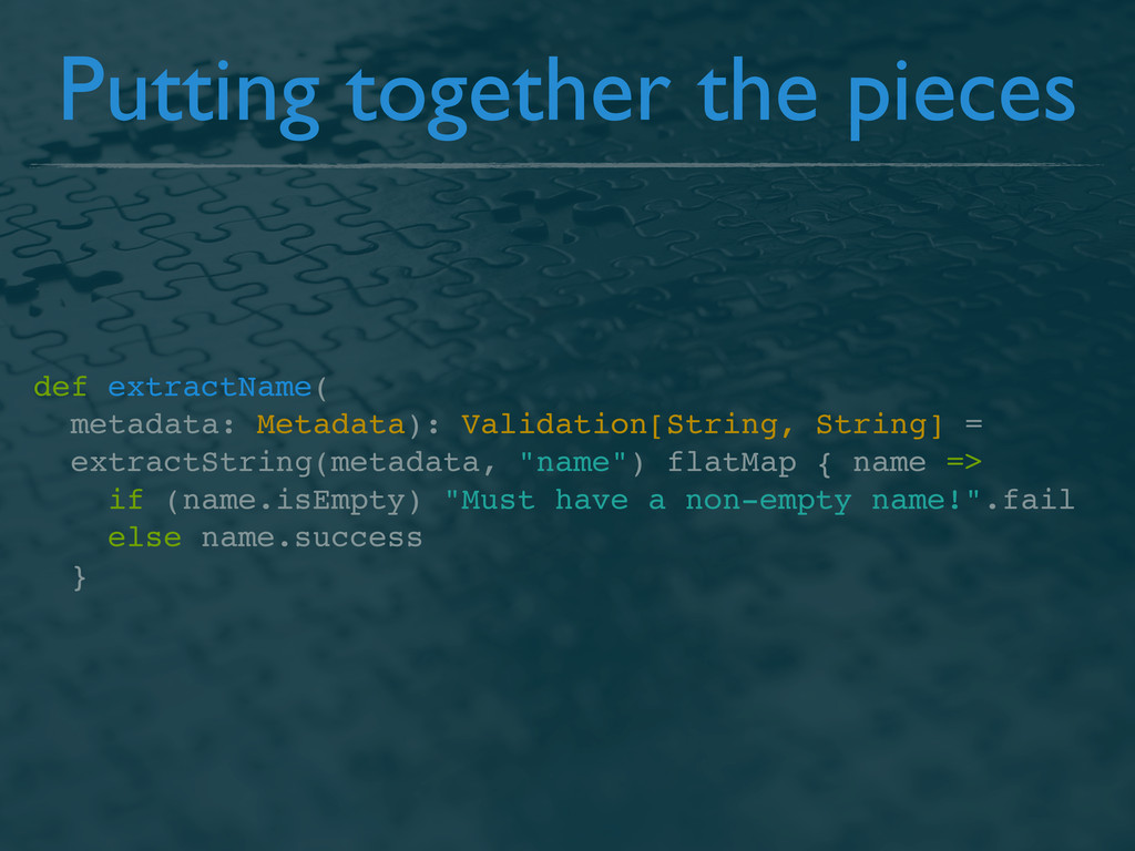 def extractName( metadata: Metadata): Validatio...