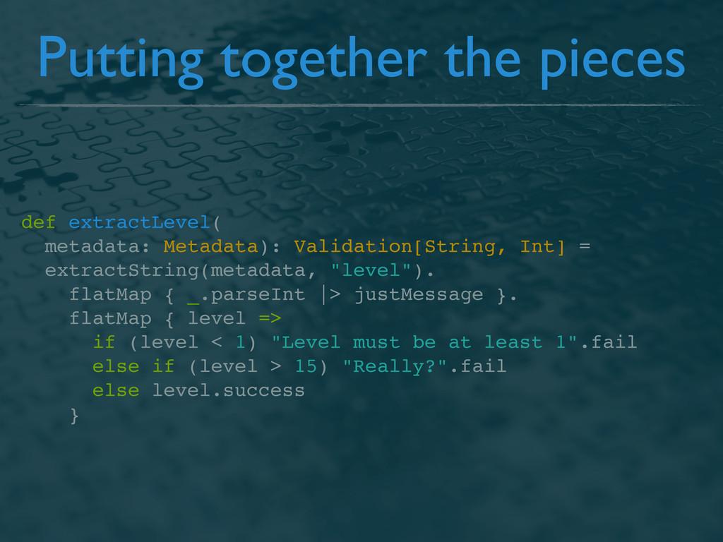 def extractLevel( metadata: Metadata): Validati...
