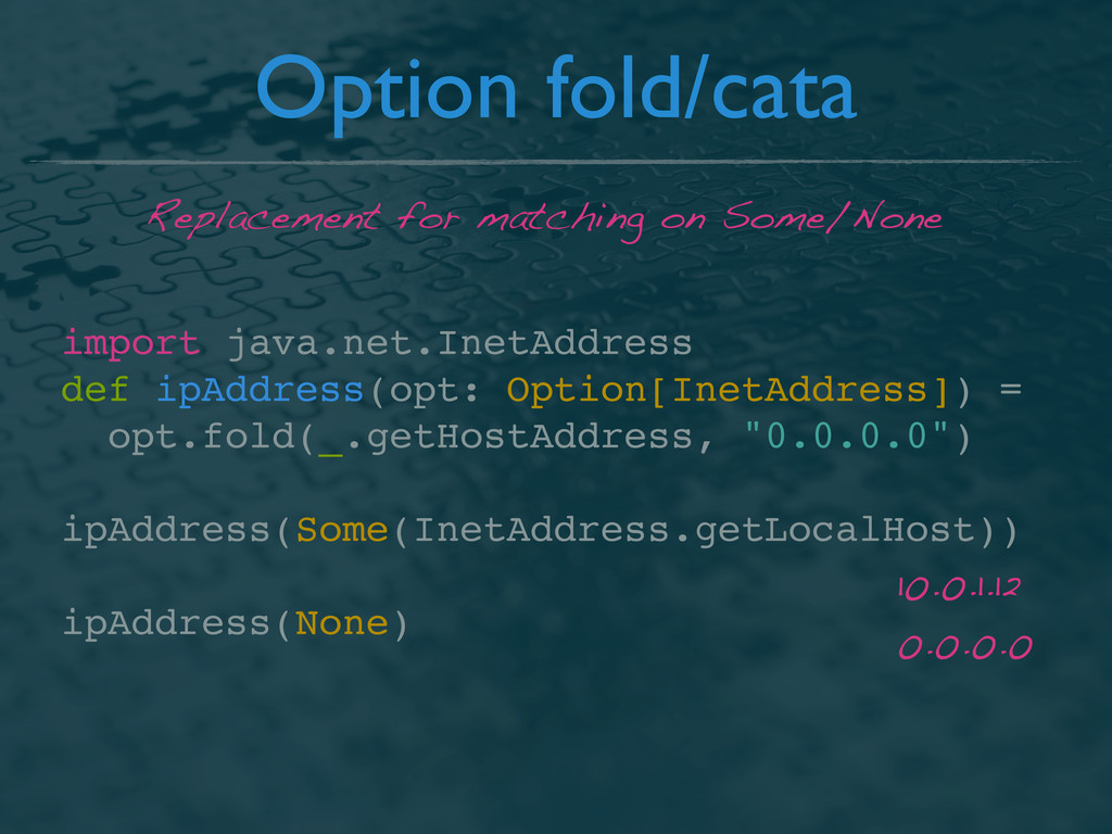 Option fold/cata import java.net.InetAddress de...