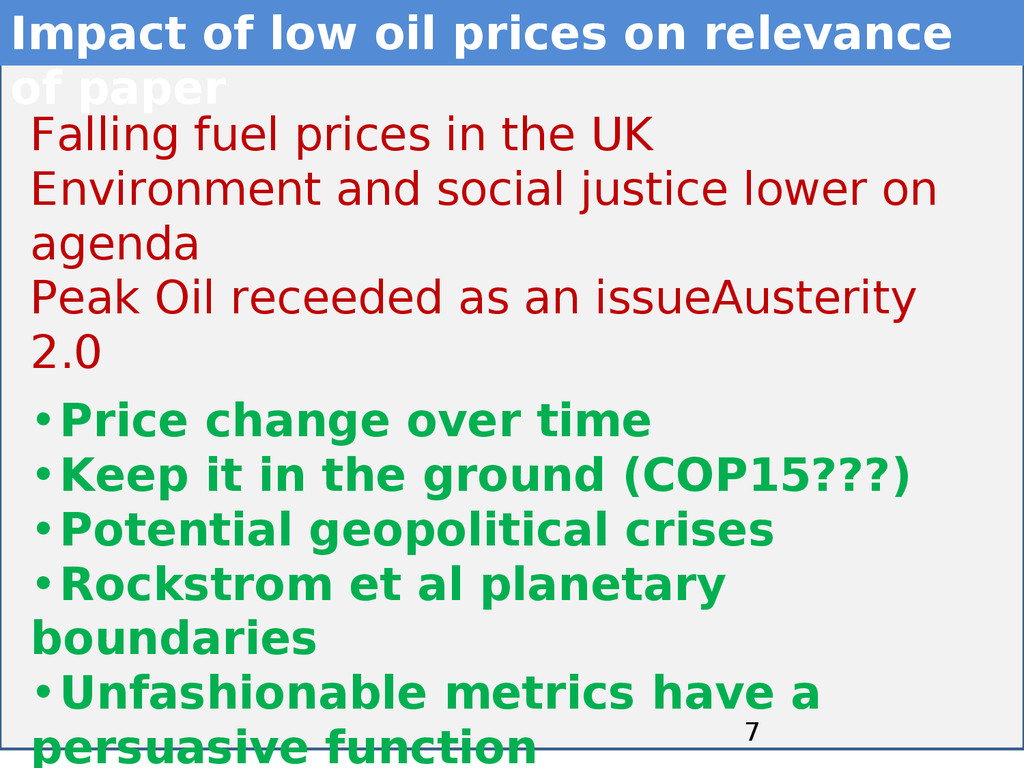 7 7 Impact of low oil prices on relevance of pa...