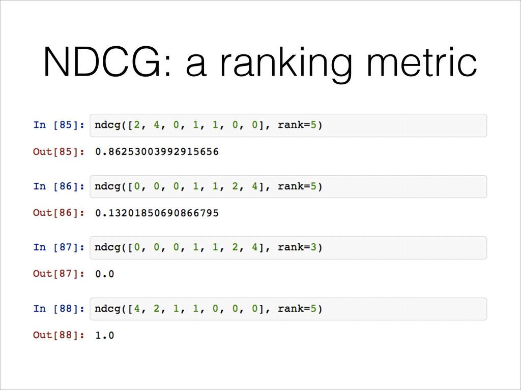 NDCG: a ranking metric