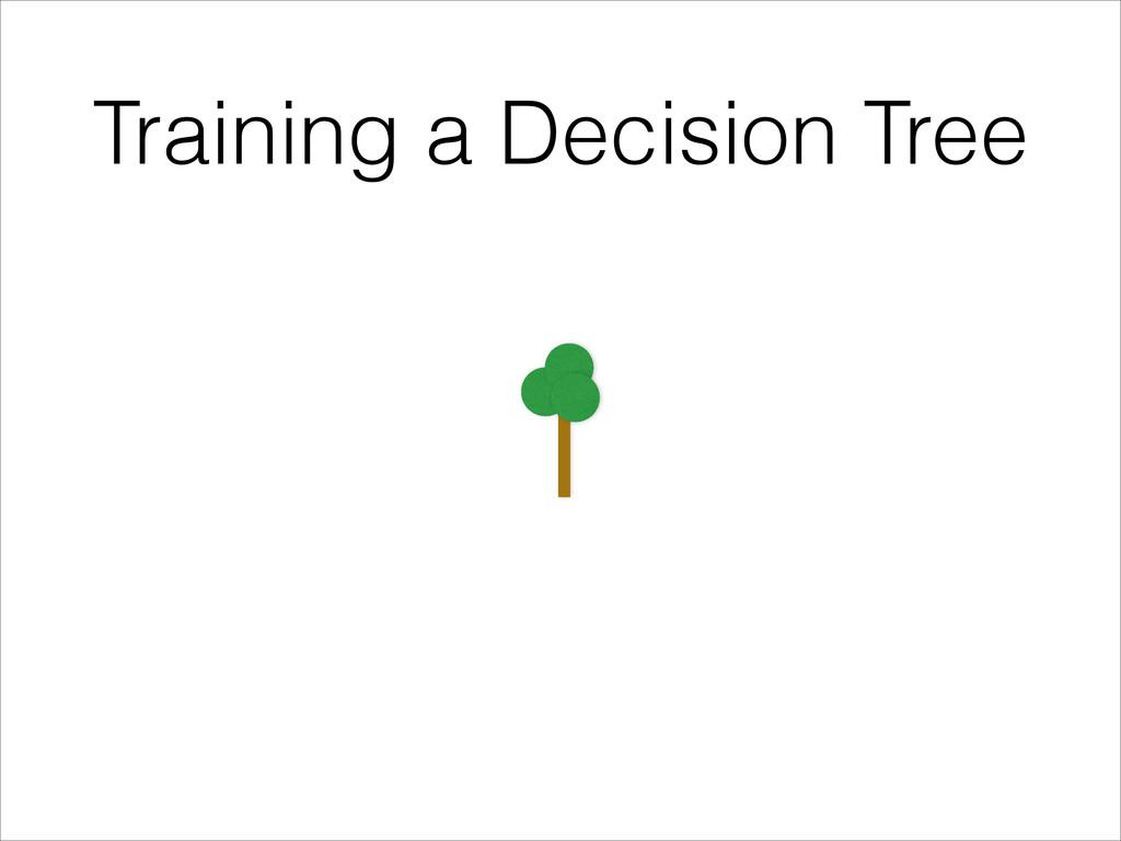 Training a Decision Tree