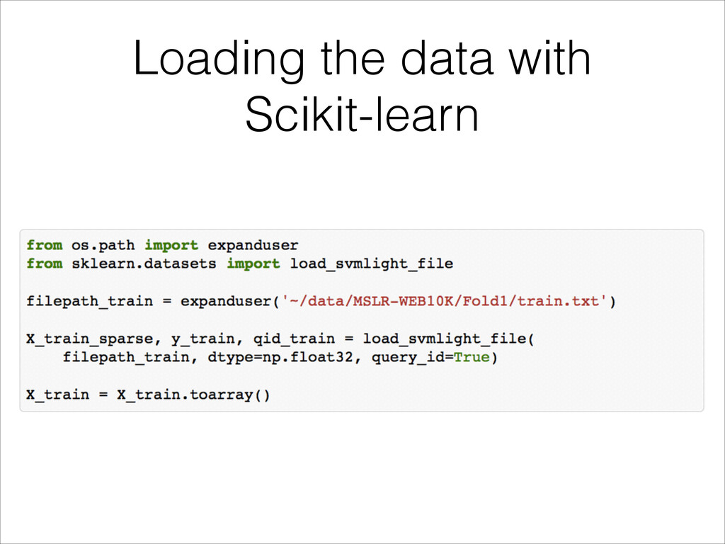 Loading the data with Scikit-learn