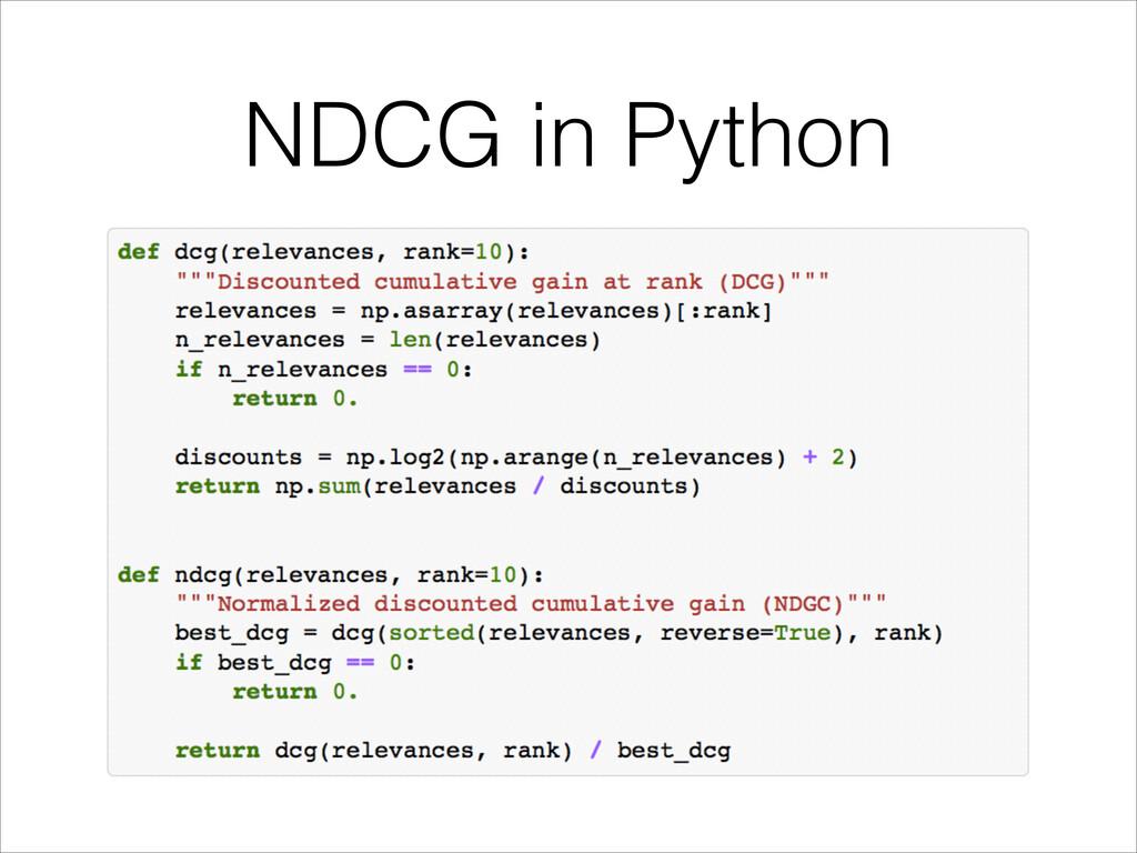 NDCG in Python