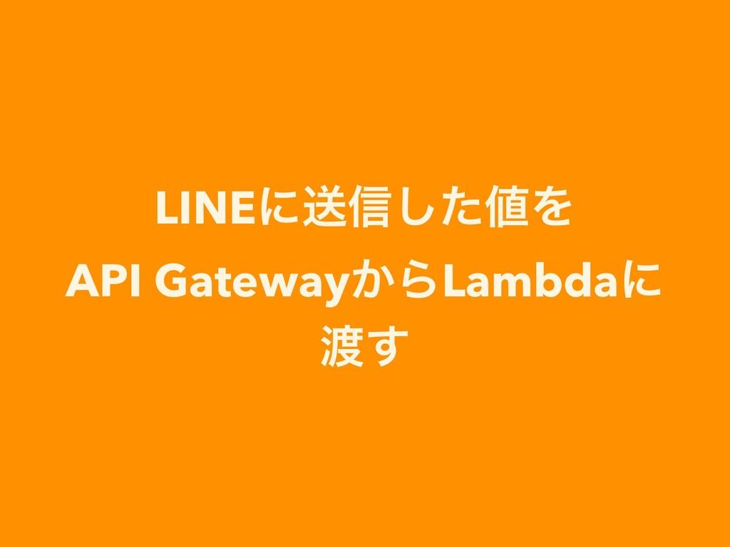 LINEʹૹ৴ͨ͠Λ API Gateway͔ΒLambdaʹ ͢
