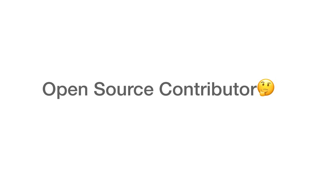 Open Source Contributor