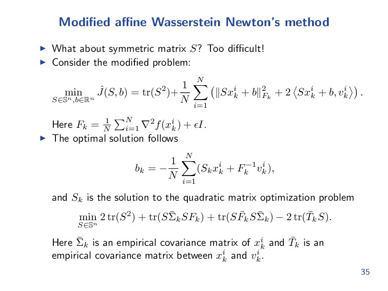 Modified affine Wasserstein Newton's method What a...