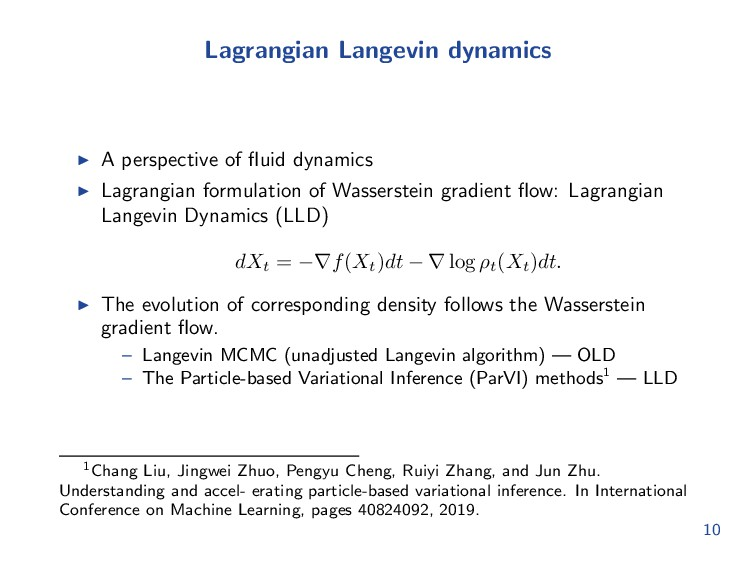 Lagrangian Langevin dynamics A perspective of fl...