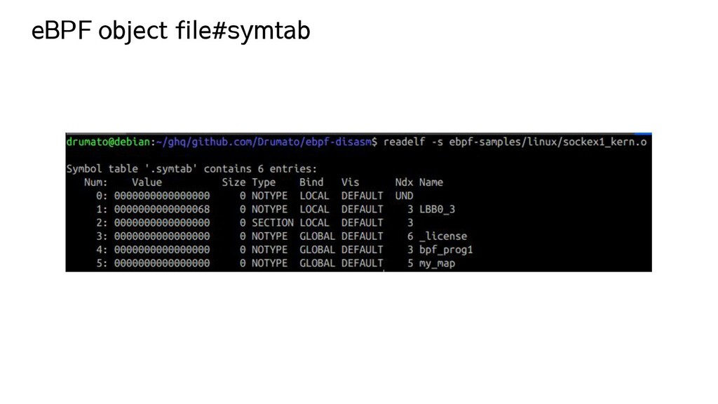 eBPF object file#symtab