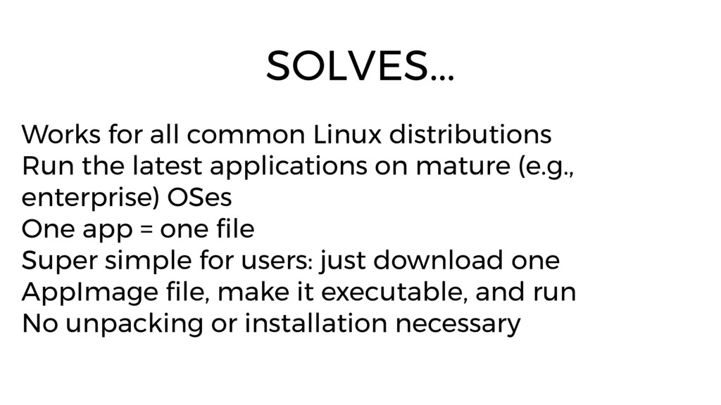Works for all common Linux distributions Run th...