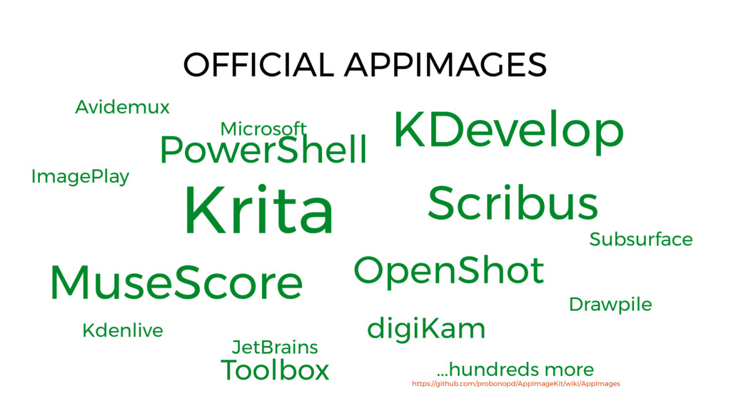 Krita OFFICIAL APPIMAGES Microsoft PowerShell K...